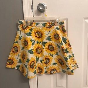American Apparel Sunflower Skater Skirt